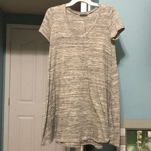 Grey and white t-shirt dress